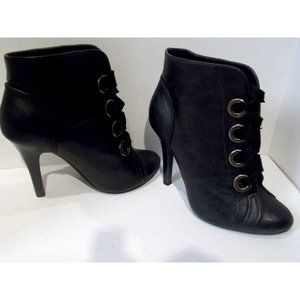F24 - Big Button Stiletto Booties - Size 5.5
